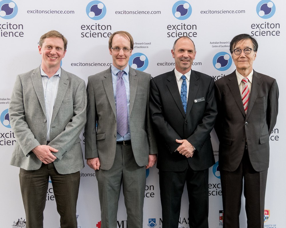 Prof Marc Baldo, Prof Neil Greenham, Centre Director Prof Paul Mulvaney and Prof Hiroshi Masuhara