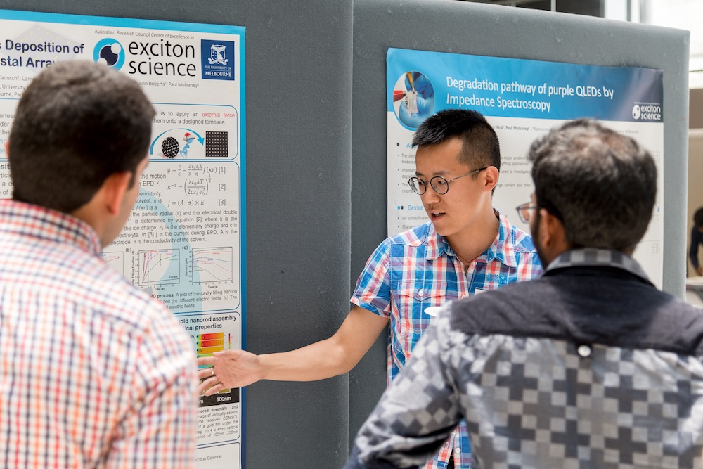 PhD student Heyou Zhang at the poster display.