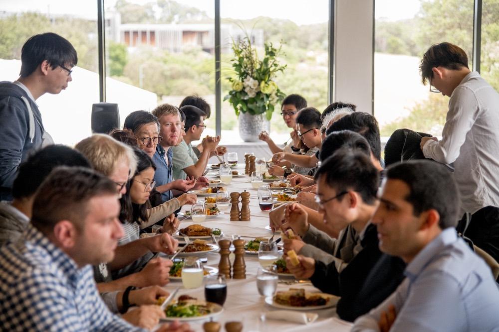 Workshop delegates networking over lunch.