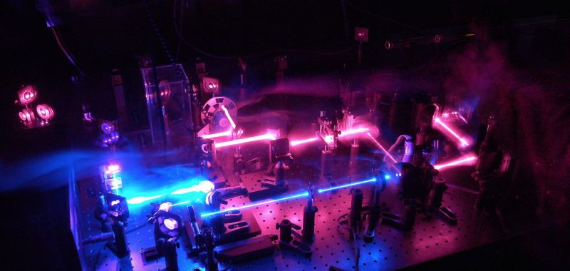 An image of fluorescent light representing the work conducted within Exciton Science