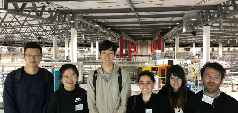 Members of the Exciton Science Centre visit the Australian Synchrotron