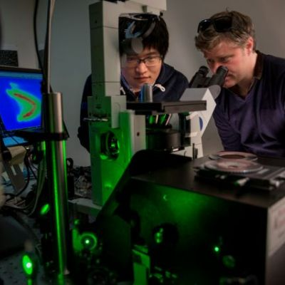 Exciton Science spectroscopy scientists at work