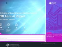 A screengrab displaying the homepage of the 2020 Exciton Science annual report
