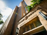 An image showing the School of Chemistry building on Masson Road at the University of Melbourne's Parkville campus.