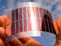 An image of a flexible next-generation solar cell